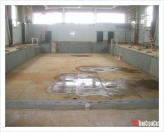 Финишное гидроизоляционное покрытие в общественном бассейне