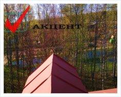 Гидроизоляция фальцевой кровли ЛО, пос. Морозова. Фото 11.05.2011 через год эксплуатации.